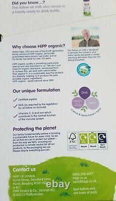 10- BOXES HiPP Organic Combiotic Follow On Milk Stage-2 UK Version 800g