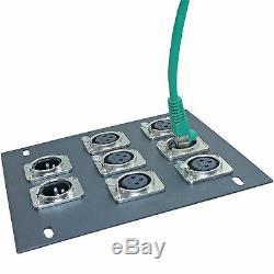 10 flush panel mount RJ45 ethernet cat5 jacks for recessed stage in floor box