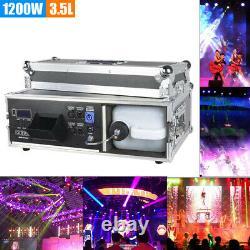 1200W Stage Mist Haze Machine Fog Machine Flight Box 3.5L Smoke DJ DMX Control