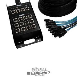 16 Channel Multicore Cable with Stage Box + Multipin Connectors 15m