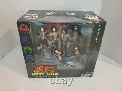 2004 Mcfarlane Kiss Love Gun Deluxe Boxed Edition Stage Figures. New Sealed