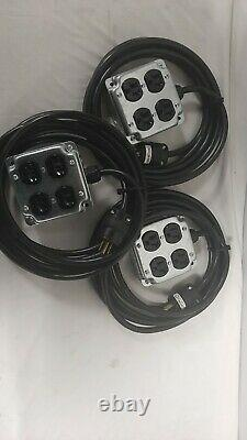 3 Pack, Quad Stage Power Box With 15' Cable