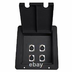 4CH Channel XLR Patch Bay Recessed Stage Pocket Floor Box Pass Through Connector