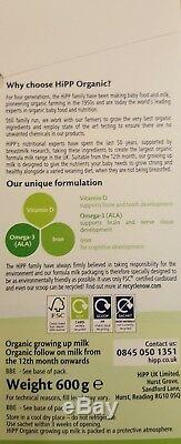 4 Box HiPP Combiotic UK Stage-3 Organic Growing up Milk 600g Free Shipping 5/20