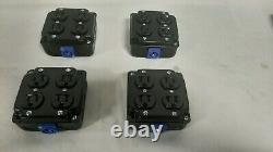 4 Pack, Powercon Stage Quad Box Black