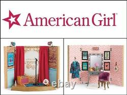 American Girl TENNEYS STAGE & DRESSING ROOM Set- New In Box, Retired Set