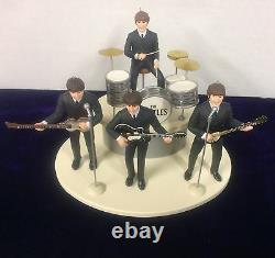 Beatles Ed Sullivan Figure Set Of 4 With Instruments On Stage New In Box 1994