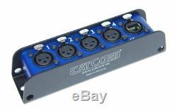 CatCore SMS-C-3F 4x XLR / CAT Adapter Stagebox Cat-Multicore Ethercon RJ45