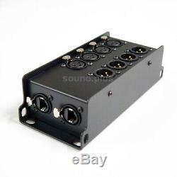 Catpro RJ45 Cat5,6,7 to 4 XLR Breakout Stage BOX(audio, dmx, aes/ebu) HEAVY-DUTY