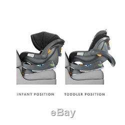 Chicco Fit2 Rear Facing Car Seat with 2 Stage Base, Black Legato (Open Box)