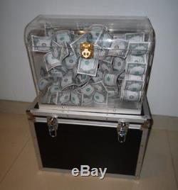 Crystal Money Chest, empty box appearing money Magic Trick, Stage, Fun, Illusion