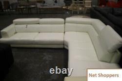 DFS Stage Left Arm Facing Large Corner Sofa Leather with Adjustable Headrests