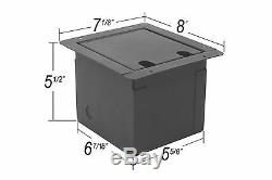 Elite Core Recessed Stage Floor Box 4 XLR Female & 2 XLR Male & 2 Ethernet RJ45