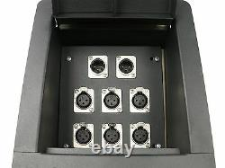 Elite Core Recessed Stage Floor Box with6 XLR Female & 2 XLR Male Mic Connectors