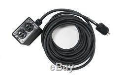 Elite Core Stage Power Rubber Quad Box 12-3 Cable Terminated Edison Male 25