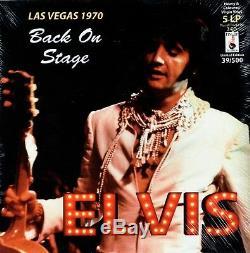 Elvis LAS VEGAS 1970/ BACK ON STAGE 5 LP 3 CD Box Set Ltd Ed New COLOURED LP