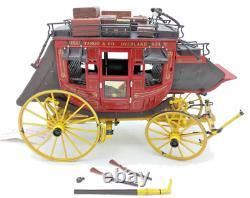 FRANKLIN MINT Diecast 116 Wells Fargo Overland Stage Coach New in Box