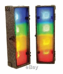 FXLab 2 x 4 Way Retro Disco Performance Lights Stage DJ Club Event LED Light Box