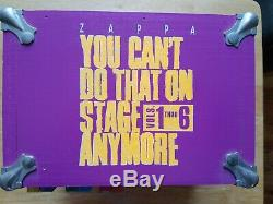 Frank Zappa You Can't Do That On Stage Anymore Vols. 1 thru 6 Wooden Box
