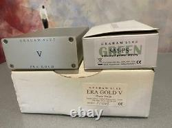 Graham Slee Era Gold V MM Turntable phono stage with NEW Green PSU BOXED