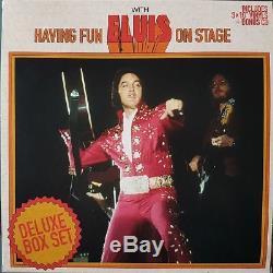 Having Fun With ELVIS On Stage Boxset 10 inch vinyl BOXCAR RARE 100 copies
