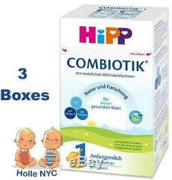 HiPP Stage 1 Bio Combiotic Infant Formula 3 Boxes 600g Free Shipping