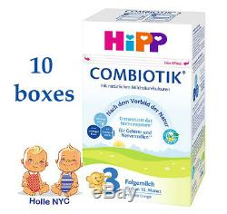 HiPP Stage 3 Bio Combiotic Infant Formula 10 Boxes 600g Free Shipping