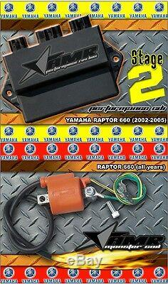 High Performance CDI Box + Ignition Coil for Yamaha Raptor 660 2002-2005 Stage 2