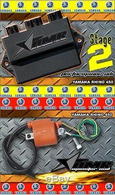 High Performance CDI Box + Ignition Coil for Yamaha Rhino 450 All Years Stage 2