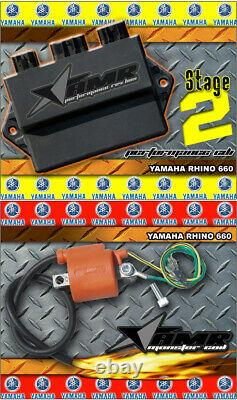 High Performance CDI Box + Ignition Coil for Yamaha Rhino 660 All Years Stage 2