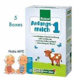 Holle Lebenswert Stage 1 Organic Baby Formula 5 Boxes 500g Free Shipping