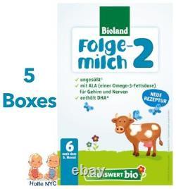 Holle Lebenswert Stage 2 Organic Infant Formula 5 Boxes 500g Free Shipping