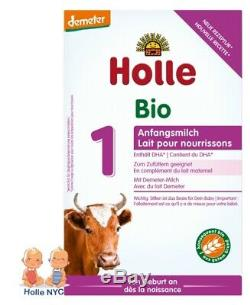 Holle Stage 1 Organic Infant Formula with DHA 6 Boxes 400g Free Shipping