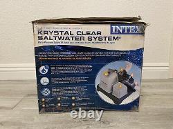 INTEX Krystal Clear Saltwater Pool System 2 Stage Filter CS8110 15k GAL Open Box