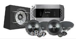 JBL Stage 1200B 12 Subwoofer Box Two Pair of 600C 6.5 Comp Speakers K5 Amp Pkg