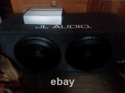 JL Audio stage 3 dual 12 inch with custom box made for subs. 250 dual JL Amp