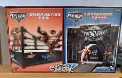 Jakks Pacific WWE Wrestlemania 22 Stage & Stunt Action Ring Playset Sealed