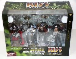 KISS Band Creatures Figure Concert Stage Box Set McFarlane Ace Carr Gene Paul