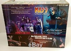 KISS Band Creatures Unmasked Tour McFarlane Figure Concert Stage Box Set SEALED
