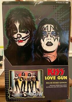 KISS LOVE GUN Deluxe Box Edition Super Stage Figures McFarlane Toys New
