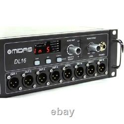 MIDAS DL16 Rackmount Digital CAT5e 16 Mic Preamps, 8 XLR Outputs Stage Box Snake