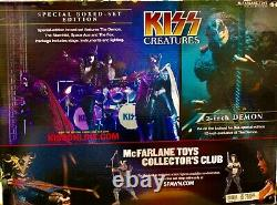 Mcfarlane Limited Edition Box Set Kiss Creatures with Stage NIB