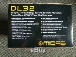 Midas DL32 32-Input / 16-Output Stage Box with 32 Midas Preamps New in Box