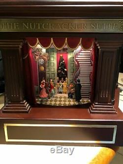 NEW Mr. Christmas Heirloom Nutcracker Suite Ballet Stage Action Music Box VIDEO