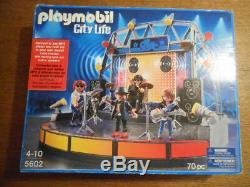 NEW OPEN BOX RARE Playmobil 5602 City Life Rock Band Stage Figure Playset Set