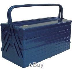 NEW TRUSCO Three-Stage DIY Tool Box GT-470-B Blue W472xD220xH343 Fast Shipping