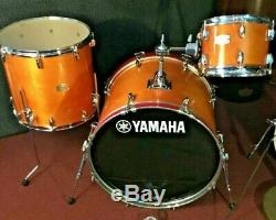 NEW, out of box YAMAHA STAGE CUSTOM BIRCH 3 PIECE SHELL PACK. NATURAL WOOD