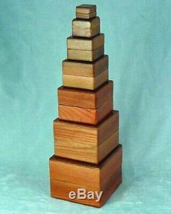 Nest of Boxes Wooden Magic Trick, Stage Magic