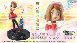 New BANDAI Serena & Stage Pokemon XY & Z PVC Figure Music BOX F/S from Japan