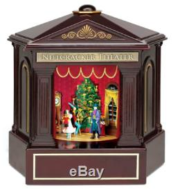 New Mr Christmas Heirloom Nutcracker Suite Ballet Stage Show Music Box NIB VIDEO
